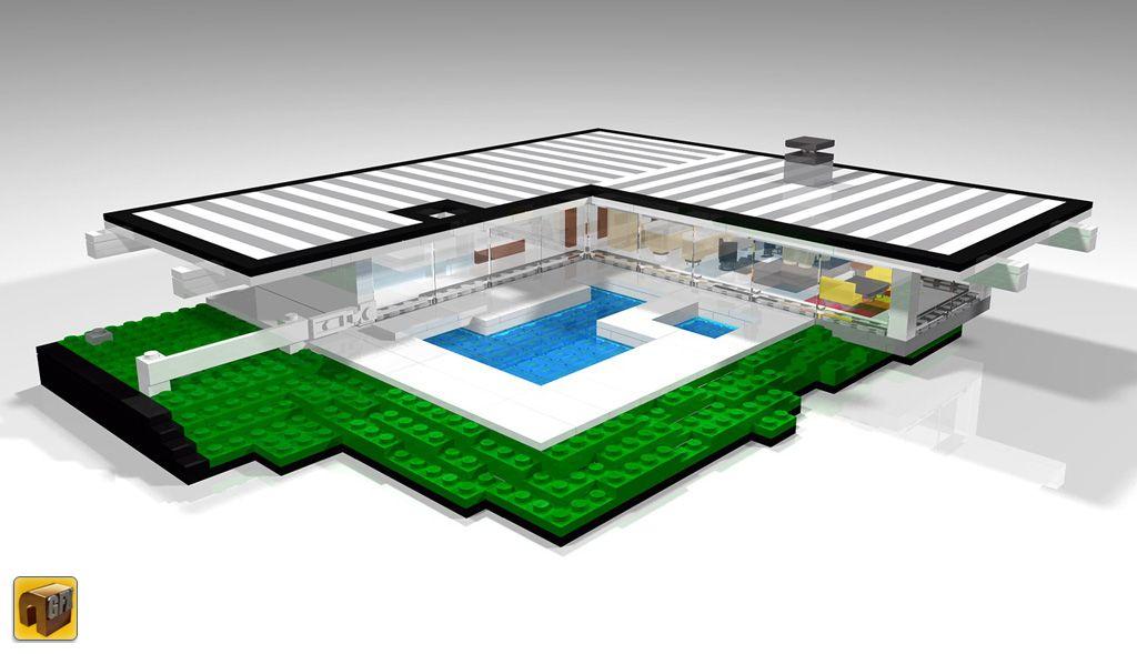 LEGO Ideas  Case Study House 22 House Stahl  LEGO Architecture  LEGO Architecture Modern