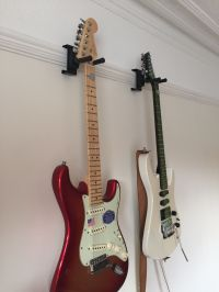 Funky Gear: Picture Rail Instrument Hanger | Guitar wall ...