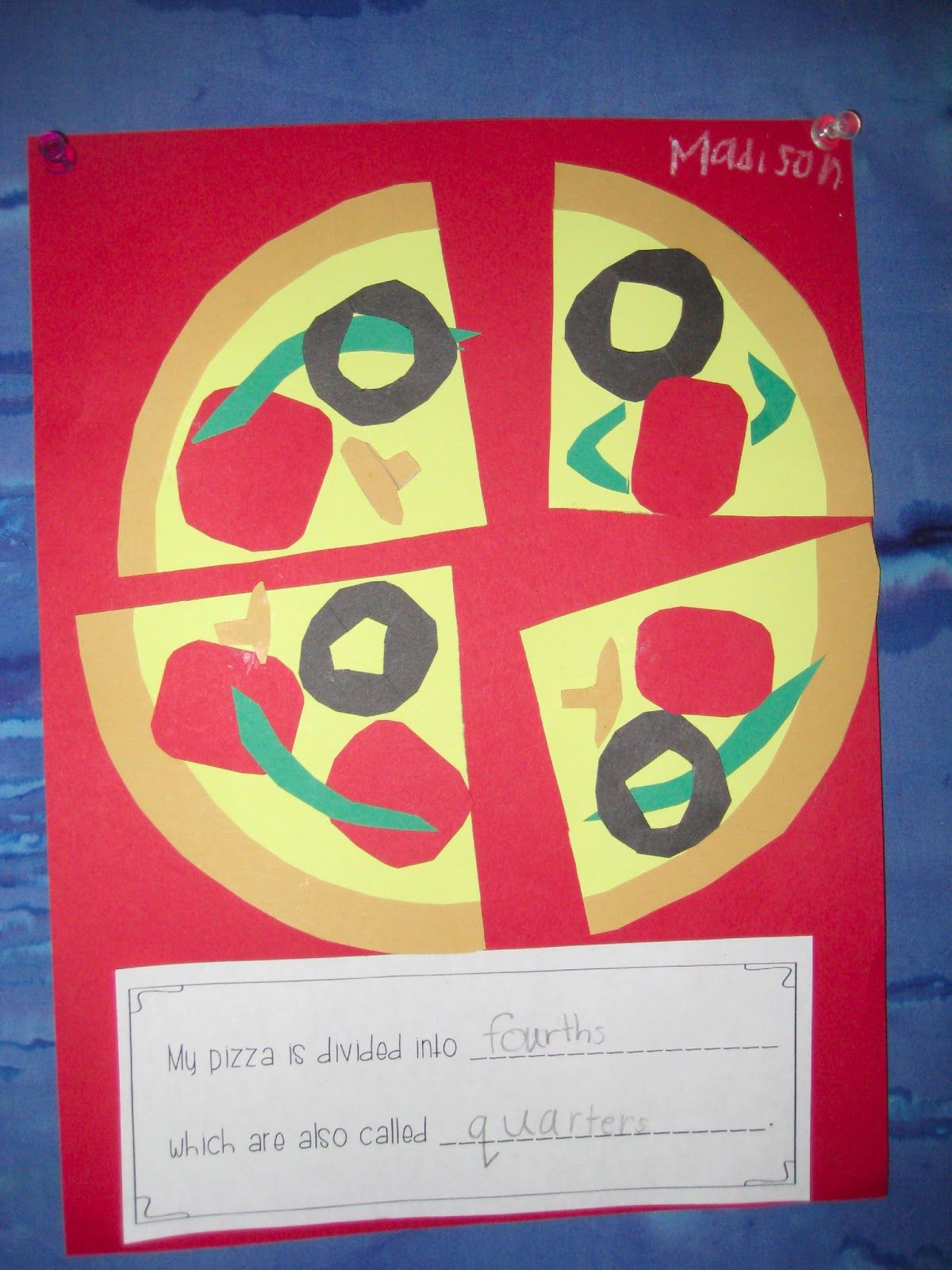 Finally In First Free Pizza Fractions Craft Math