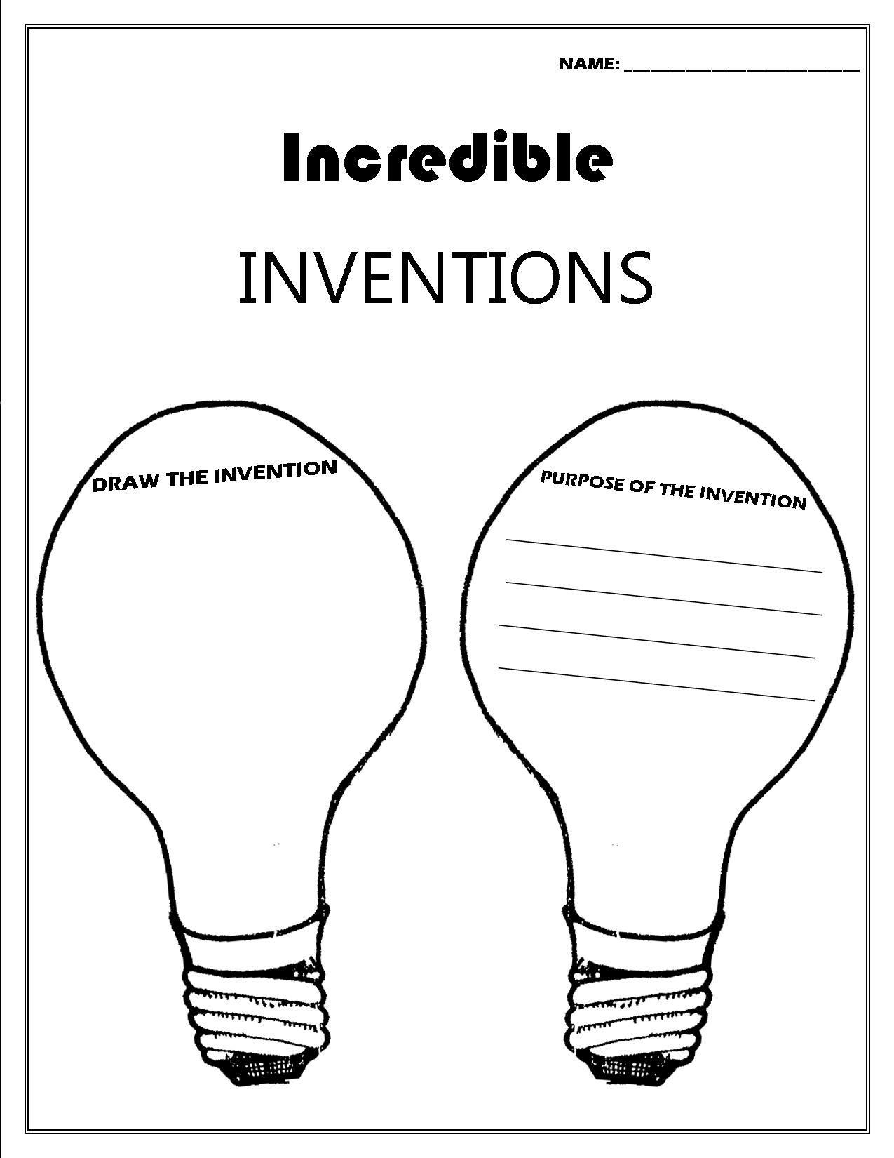 Inventor Convention Worksheet
