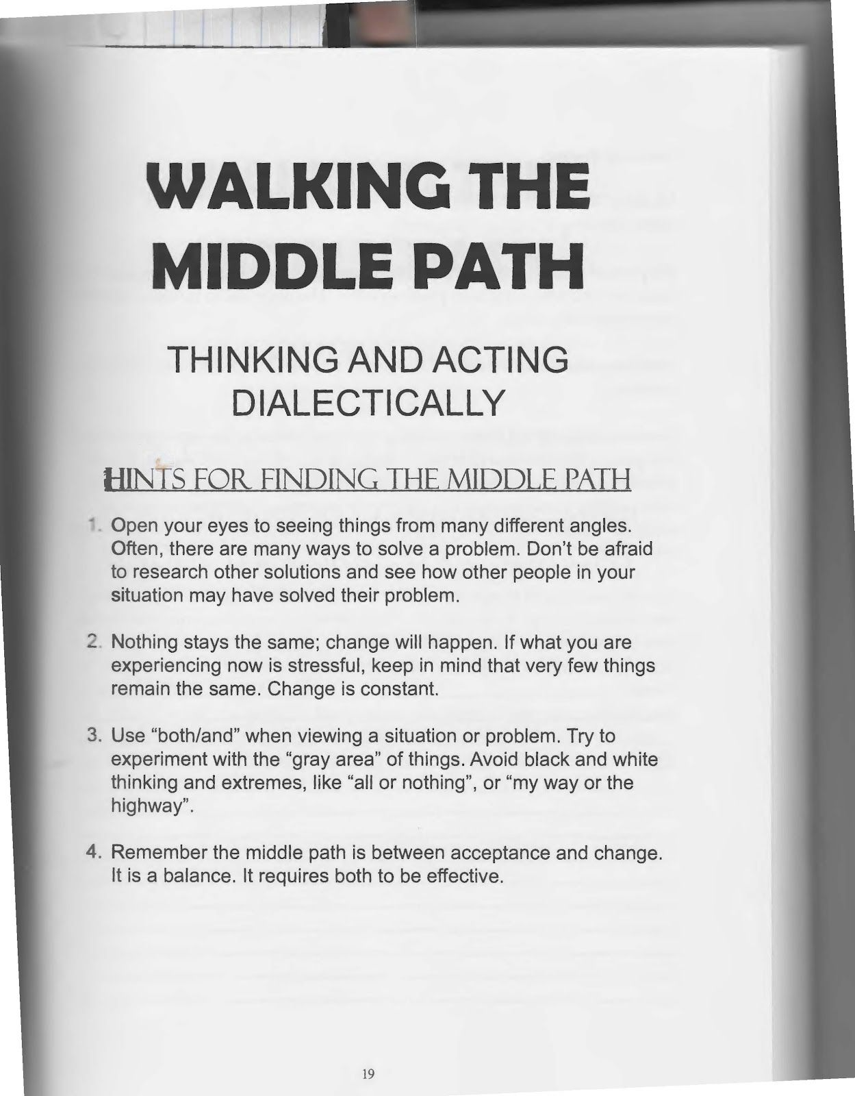 Dbt Walking The Middle Path The Art Of Dialectical Behavior Therapy