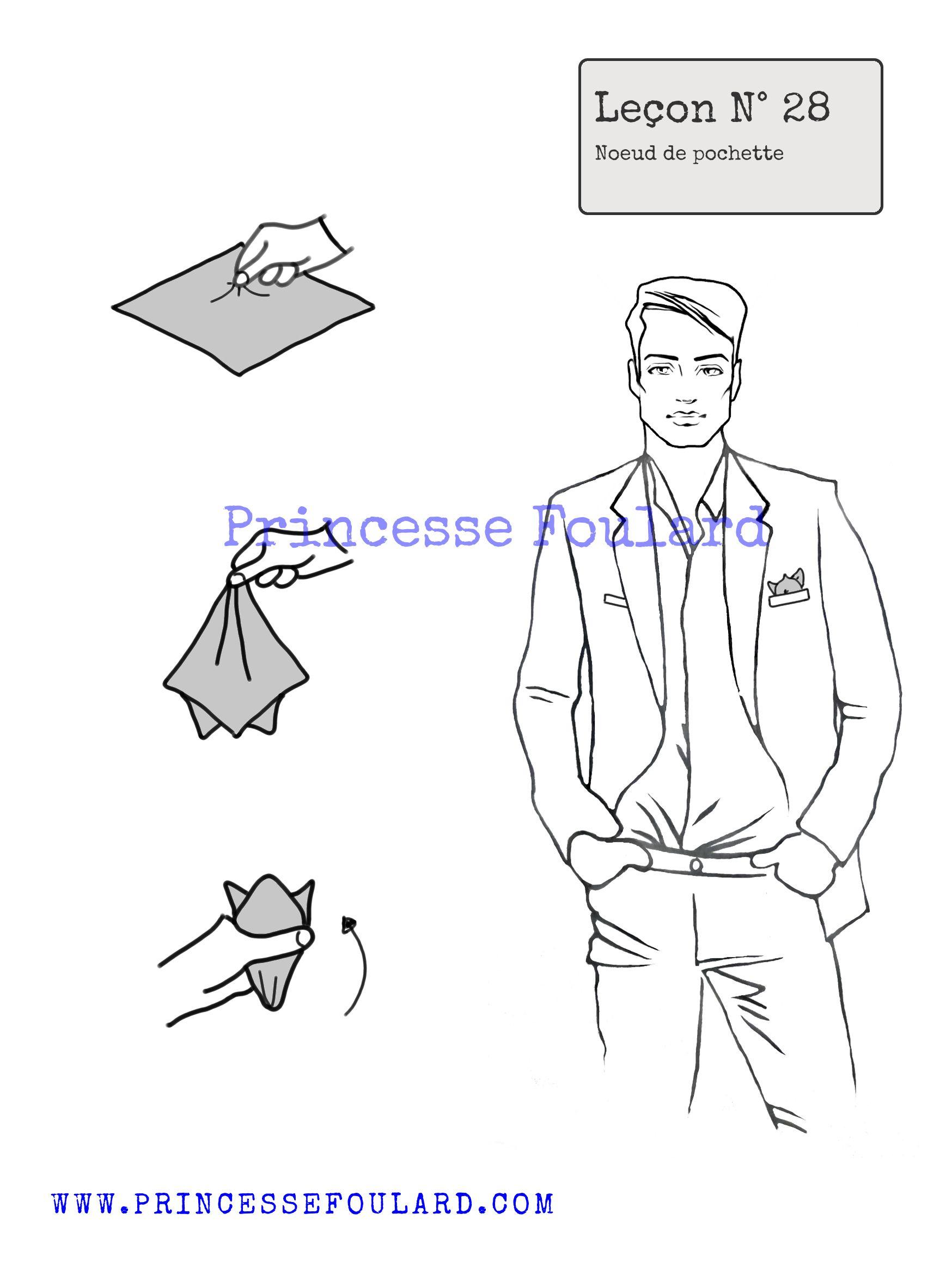 Plier son foulard en pochette de costume pour homme