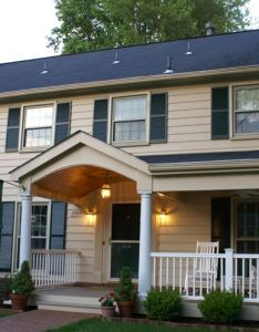 The new portico changes whole dynamic of this rockville md homes design also porch small colonial google search home entry ways rh za pinterest