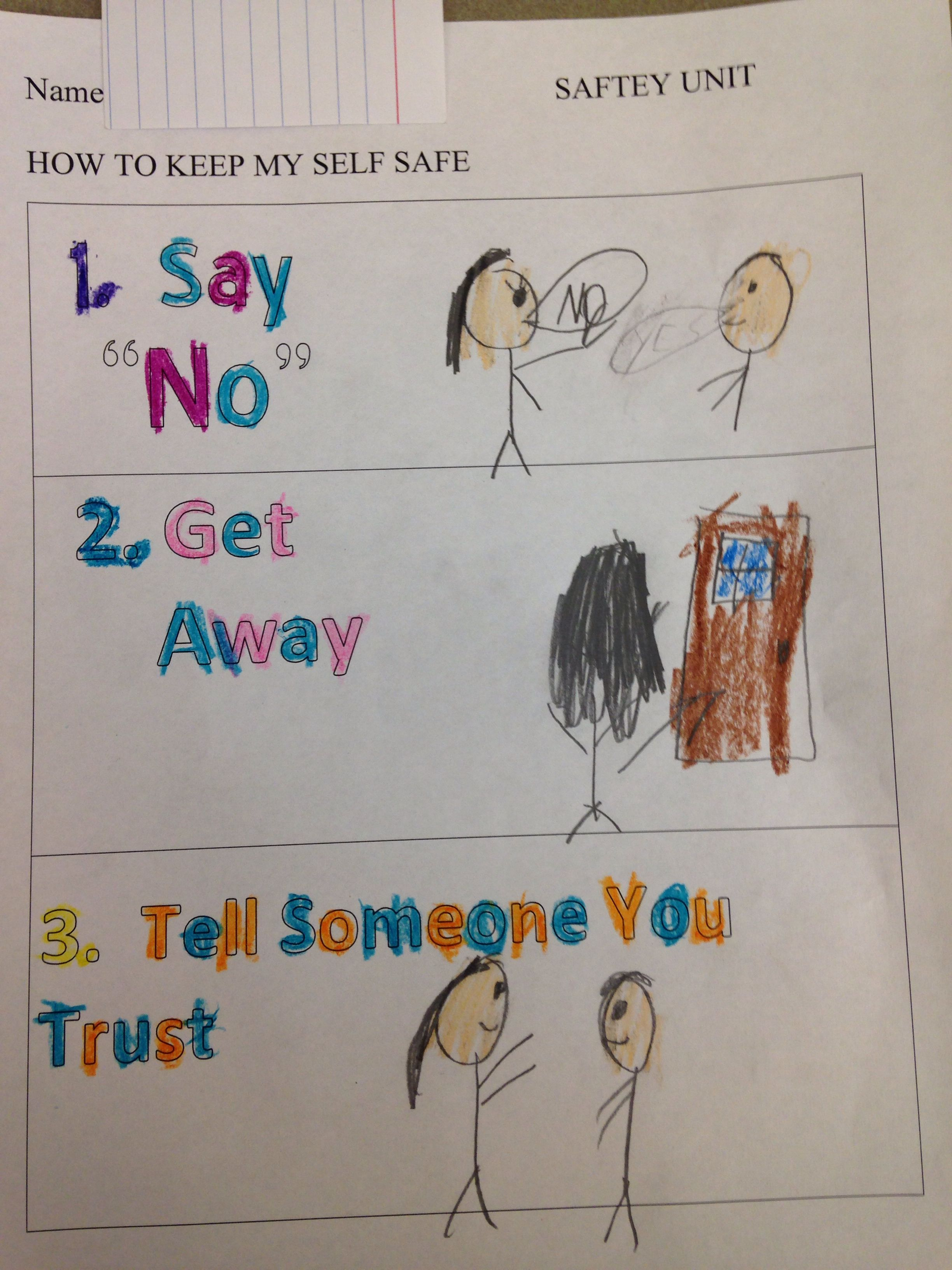 Worksheets From The First Lesson In My Safety Unit We Talked About What To Do If You Are In A