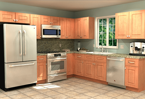 10' X 10' Kitchen Home Decorators Cabinetry Home Decoration