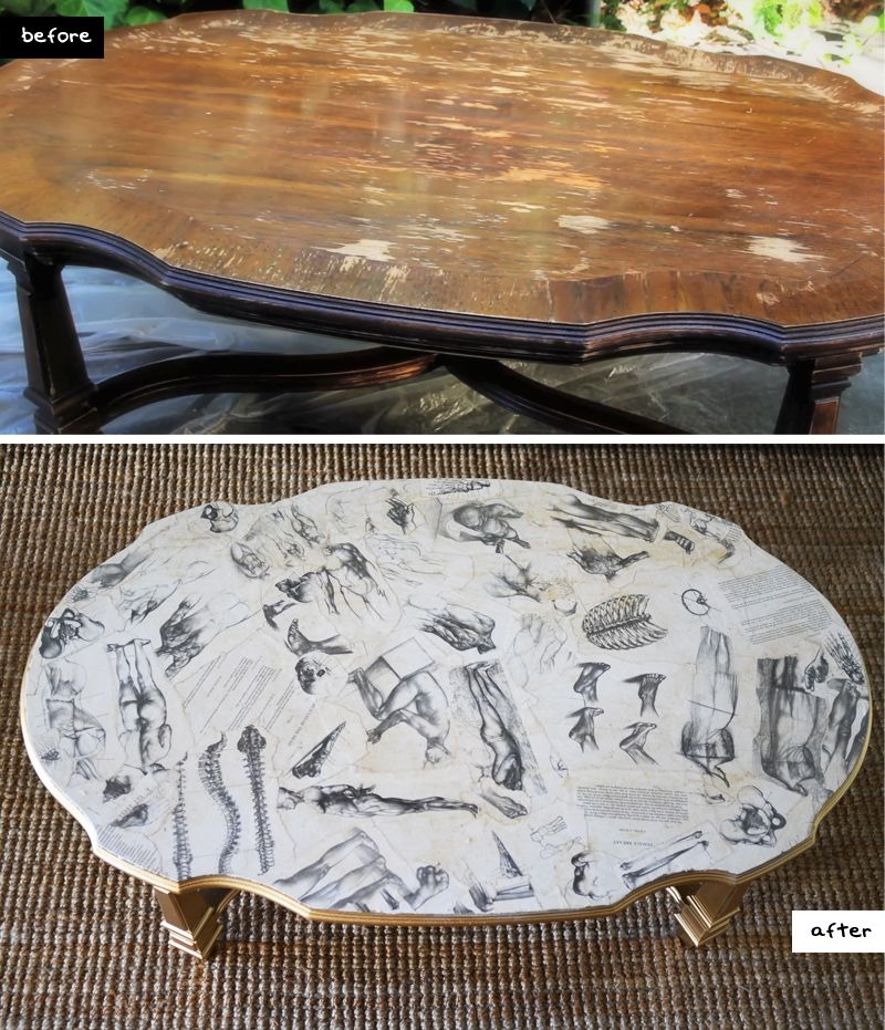 Decoupage Coffee Table on Pinterest  Refurbished End