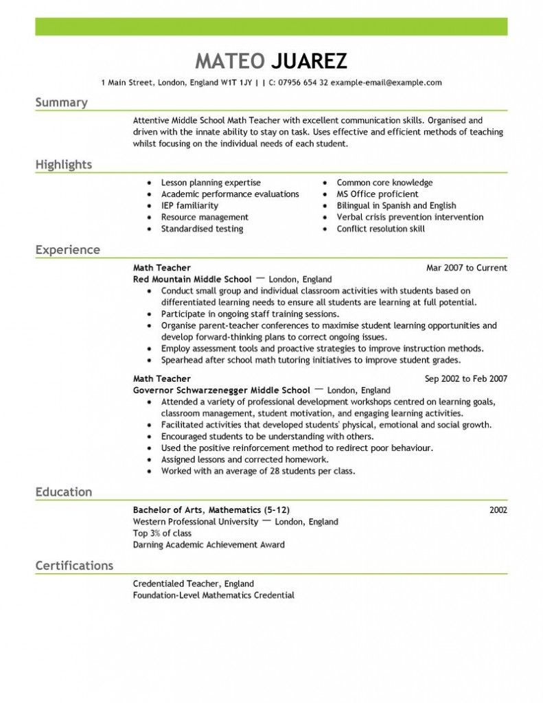 Contemporary Design Resume Education Example Resume