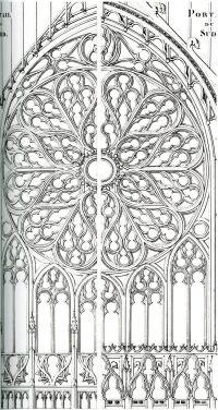 frieze tile: Rose Window drawings | gothic | Pinterest ...