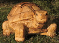 Tortoise, Chainsaw Carving, Chainsaw Art, Yard Decoration