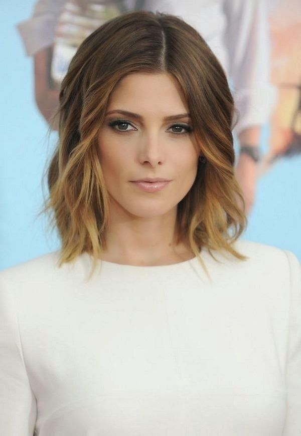 Medium Length Haircuts Center Part Hair Pinterest Hairstyles