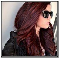 Dark Brown Hair With Reddish Purple Highlights Dark brown ...