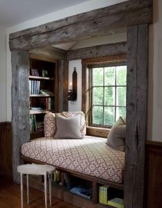 Amazing window seat bed looks so cozy  can totally picture me there also rh pinterest