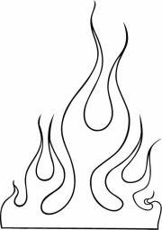 flame outline clip art