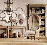 Versailles Domed Burlap-Backed Chair   Chairs ...