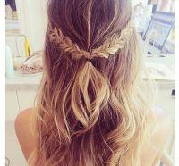 half up half down Braid #hair #hairstyle #longhair  ...