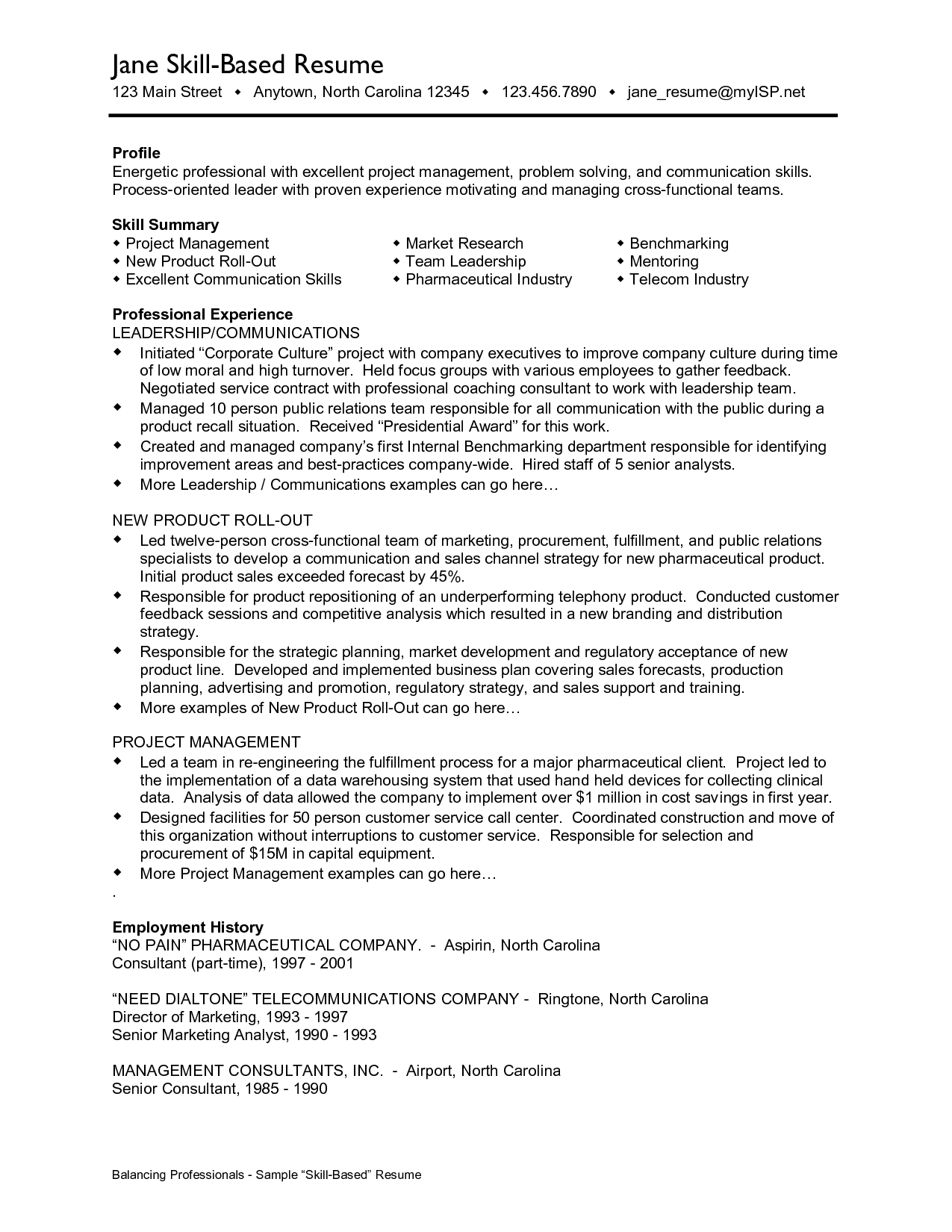 Skill Resume Format Job Resume Communication Skills Http Resumecareer