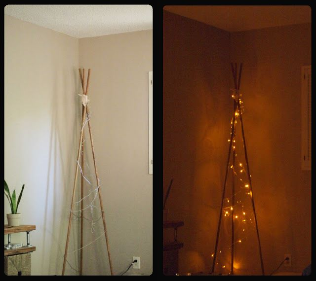 DIY Tipi inspired Floor Lamp I'm going to make this with
