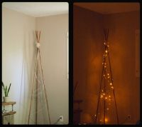 DIY Tipi inspired Floor Lamp I'm going to make this with ...
