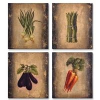 Vegetable Medley Oil Paintings - Tuscan Kitchen Wall Art ...