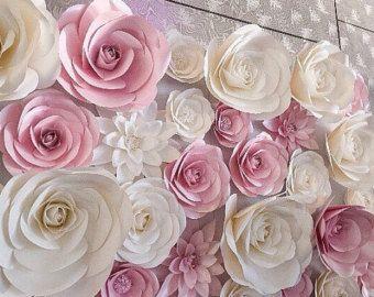 Large paper flowers nursery wall decor giant flower also rh in pinterest