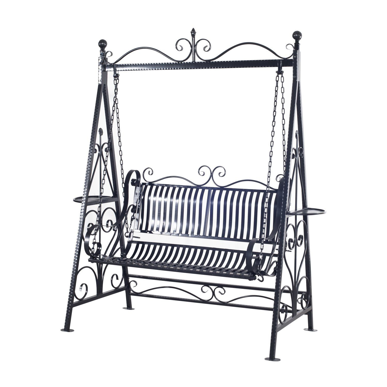 swing chair metal high cover john lewis outsunny garden outdoor patio hammock