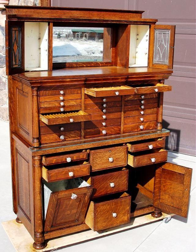 Oak dental cabinet.. COOL!
