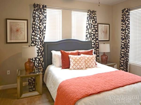 neutral bedrooms with pops