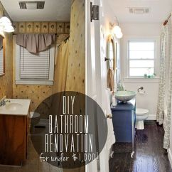 How To Refinish Kitchen Sink Showcase Before & After Diy Bathroom Renovation Under $1,000 ...