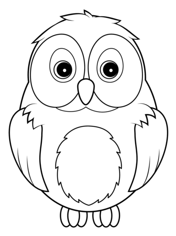 Cute Owl coloring page from Owls category. Select from
