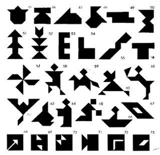 El tangram es un rompecabezas de origen chino que