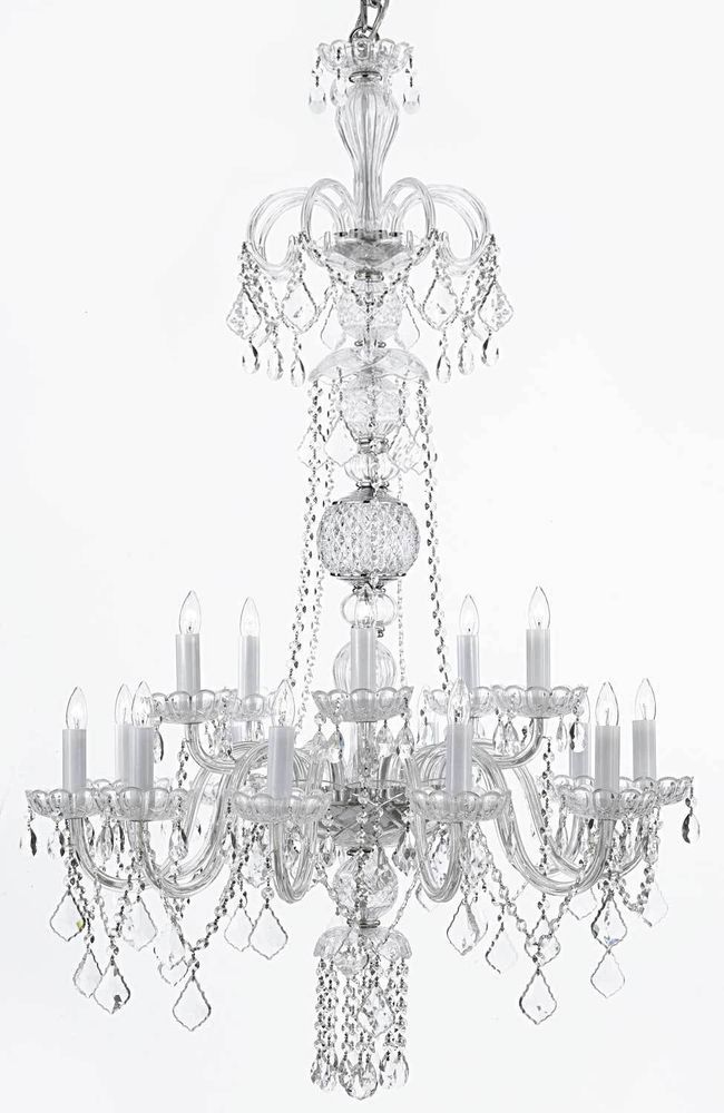 Gallery Murano Venetian Style All Crystal Chandelier With W 32 H 48 F46clear59015color