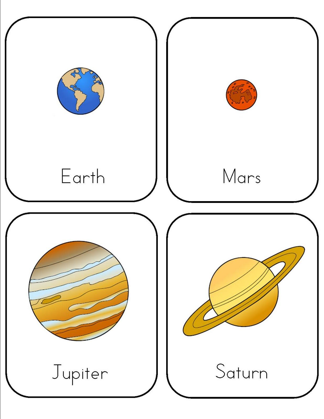 Preschool Space Lesson With Free Printables From Mrs Home
