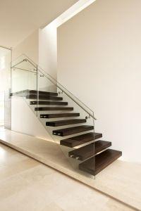 American Oak   Modern   Stair   Glass   Steel ...