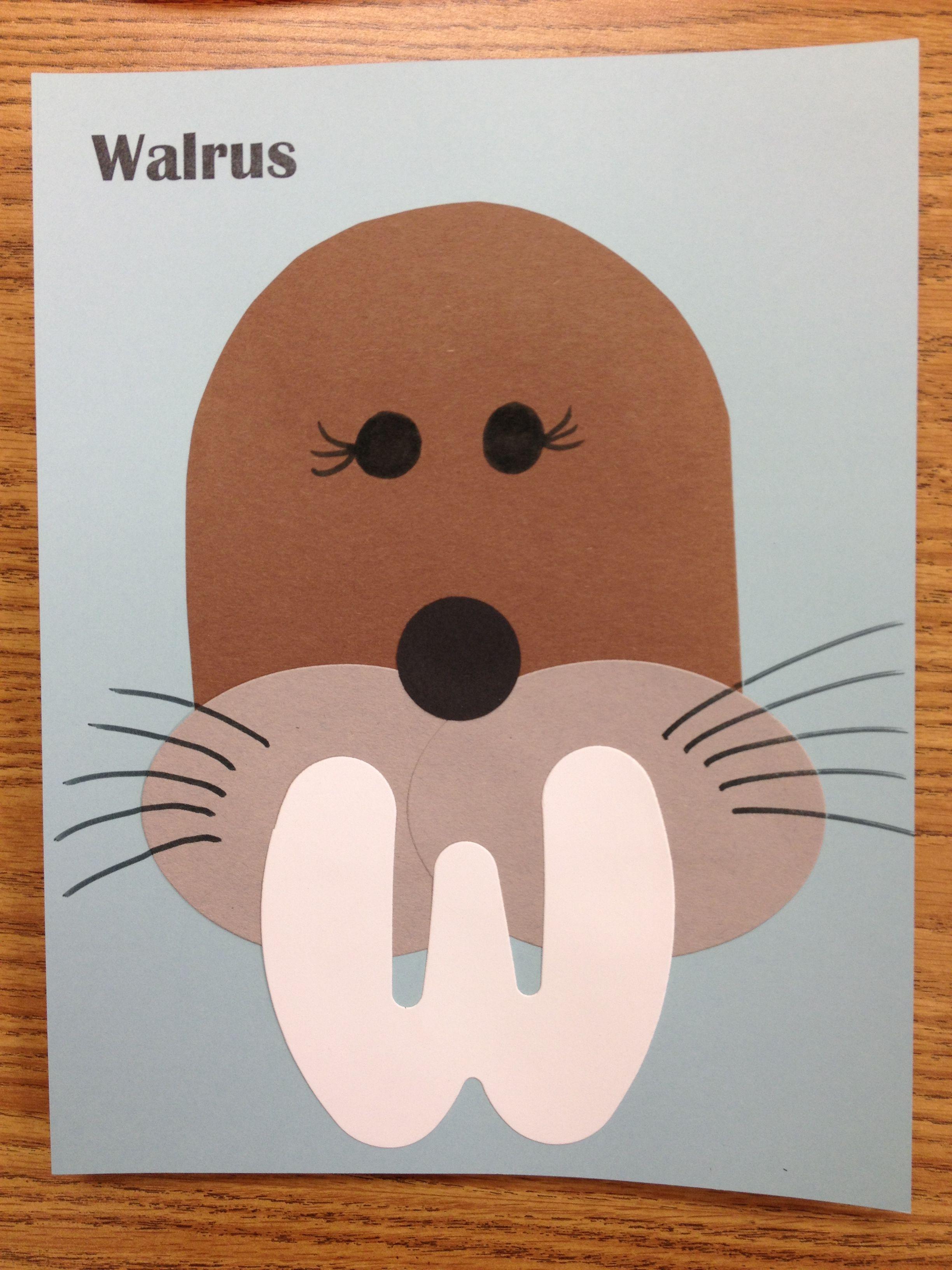Walrus Preschool Craft