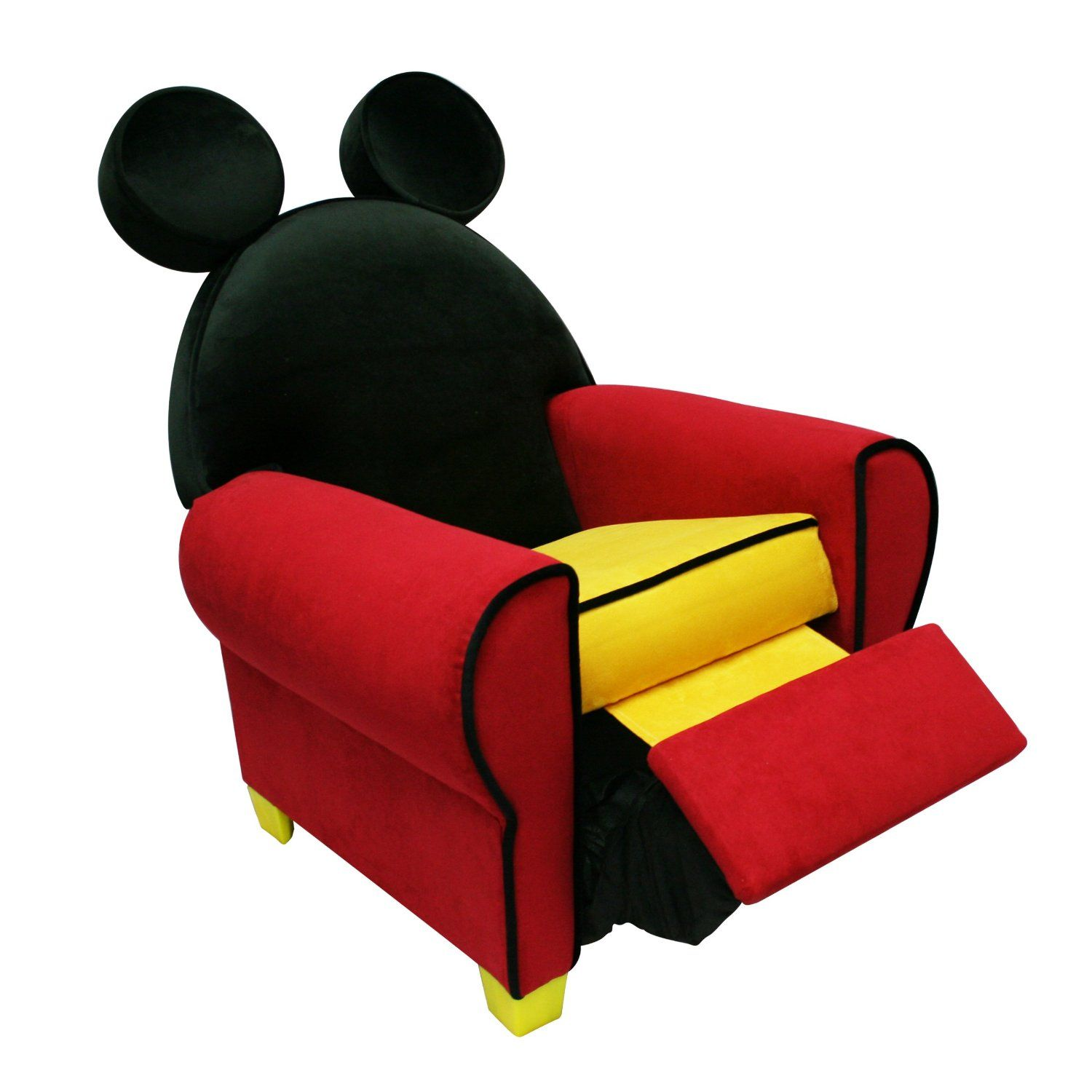 kid recliner chair black dining sets with 6 chairs mickey mouse furniture disney toddler