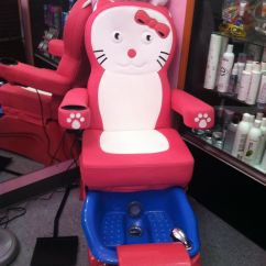 Hello Kitty Spa Pedicure Chair Folding Rocking Vintage Kids Children Girls Day Out Fun Activity At A Hair For
