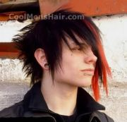 emo men long haircuts hair