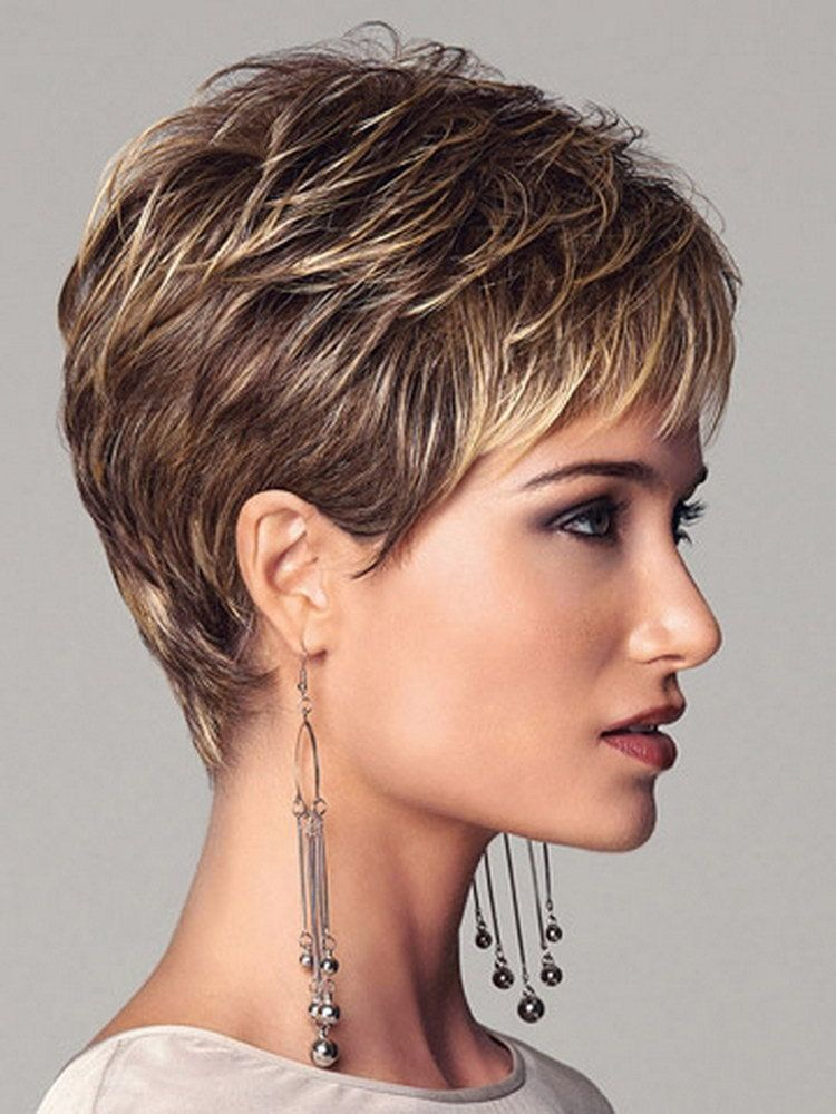 New Coming 2016 Highlights Blonde Short Female Haircut Puffy