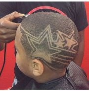crazy haircut design fade