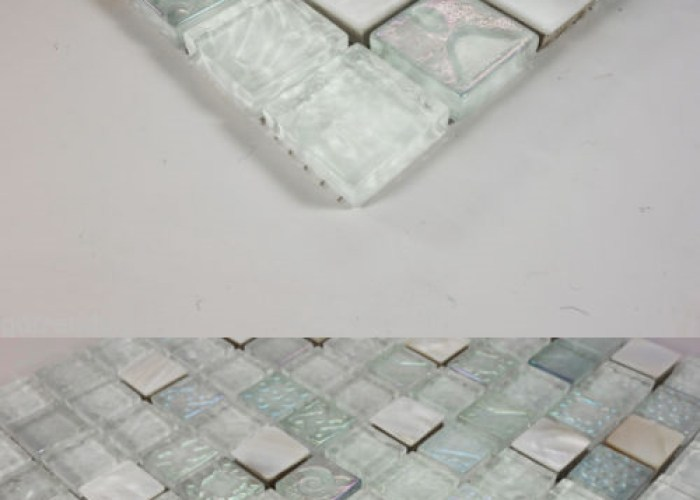 Floor and wall tiles iridescent random circles glass mosaic tile aqua blue pack of sheets   buy it now only on ebay also