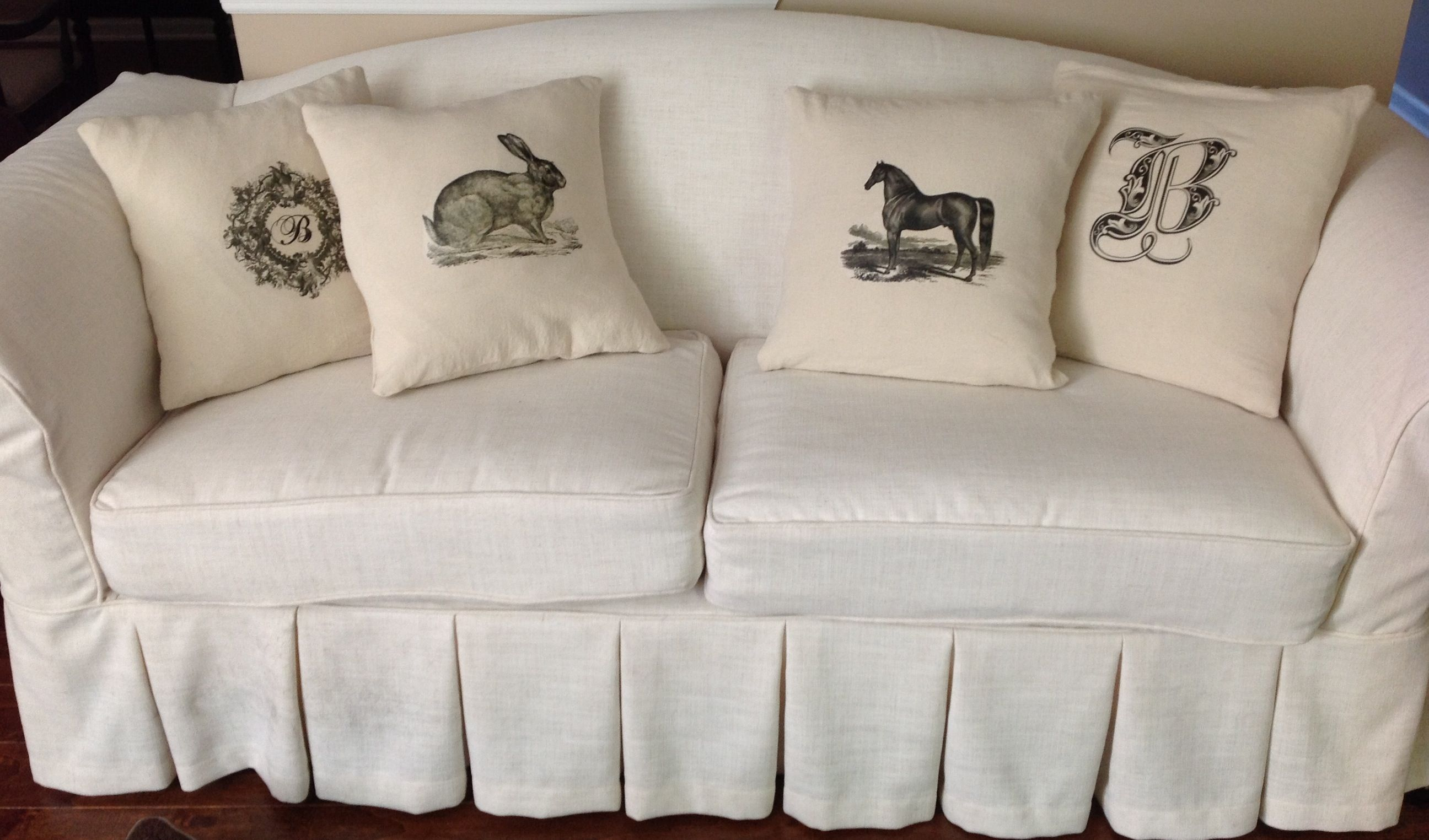 sofa cover cloth rate leather pottery barn knock off annie compean mccreary made this beautiful linen