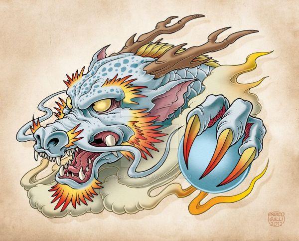 Oriental Dragon by EnricoGallideviantartcom on