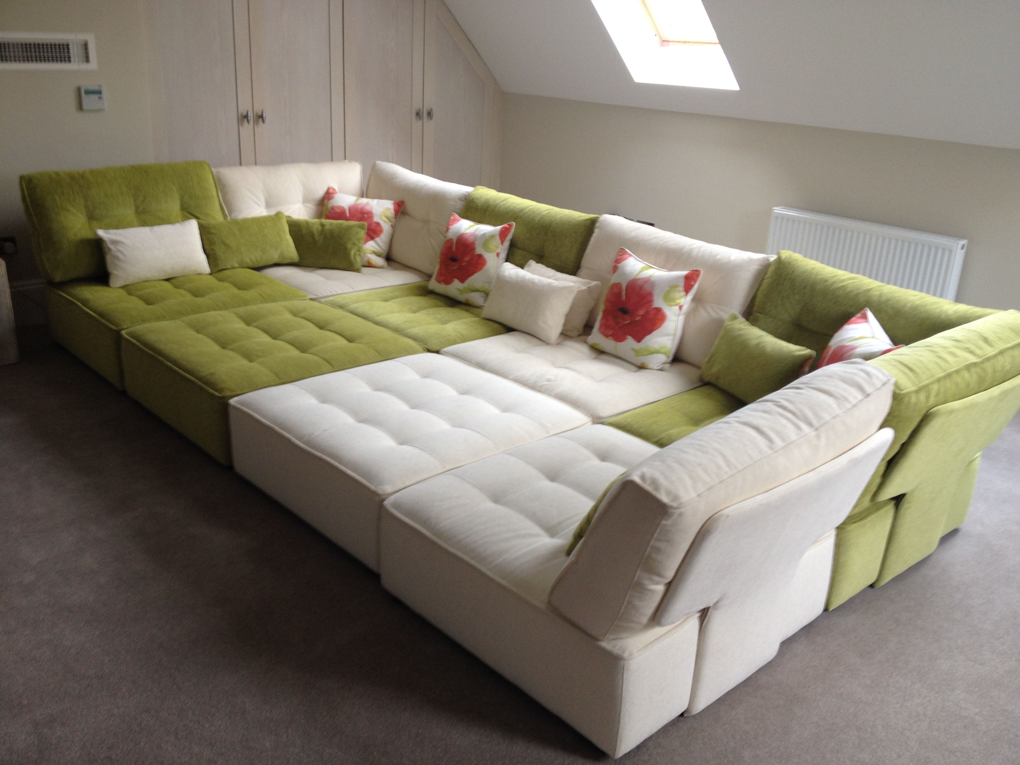big chunky corner sofas queen sofa space cinema room how about these super fun too