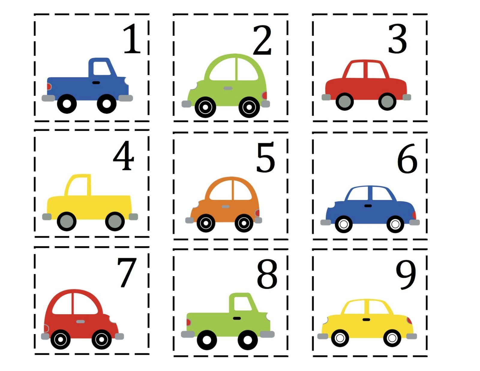 Preschool Car Printables