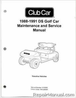 Your investment in a Club Car Repair Manual will pay for