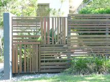 Timber Fence Ideas - Square Panels With Range Of Board