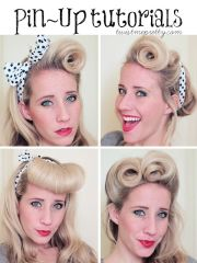 victory rolls pin- hair tutorial