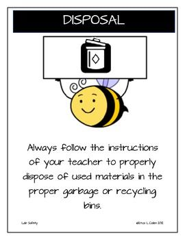 Here's a set of safety symbols posters, as well as a