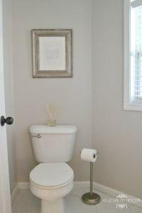 Behr Cotton Grey Powder Room Makeover - | Behr, Cotton and ...
