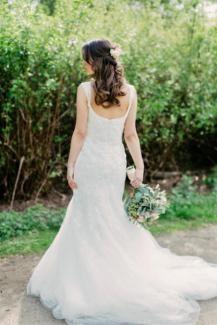 Kleid Brautkleid Hochzeitskleid Meerjungfrau Spitze Pronovias Xs